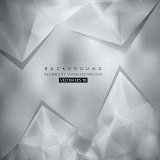 Abstract Light Gray Polygonal Triangular Background Template