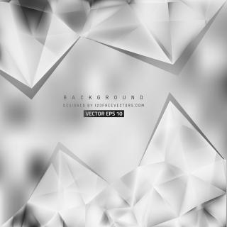 Gray Triangle Polygonal Background Template
