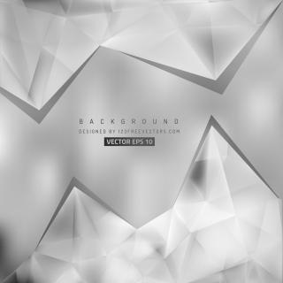 Abstract Gray Geometric Triangle Background Template