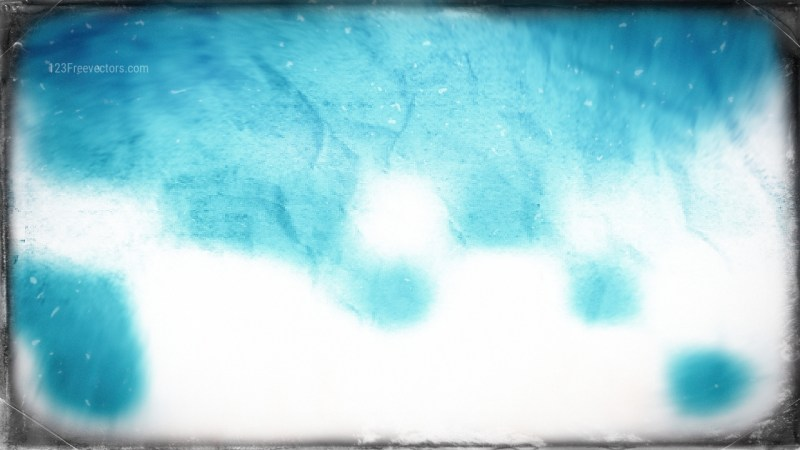 Turquoise and White Grunge Texture Background Image