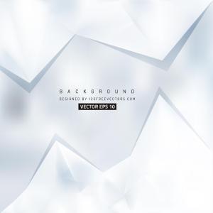 White Polygonal Triangular Background