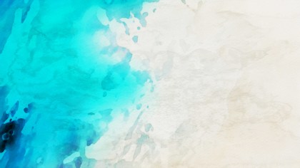 Beige and Turquoise Watercolor Texture Background
