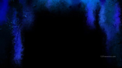 Black and Blue Watercolor Background