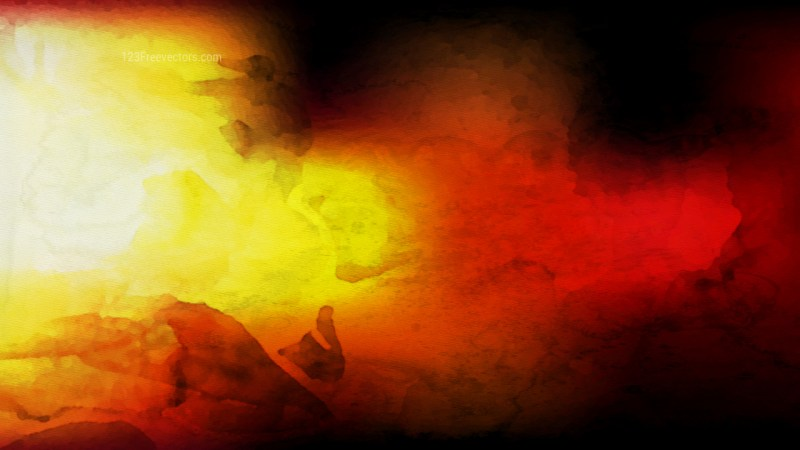 Black Red and Yellow Distressed Watercolour Background