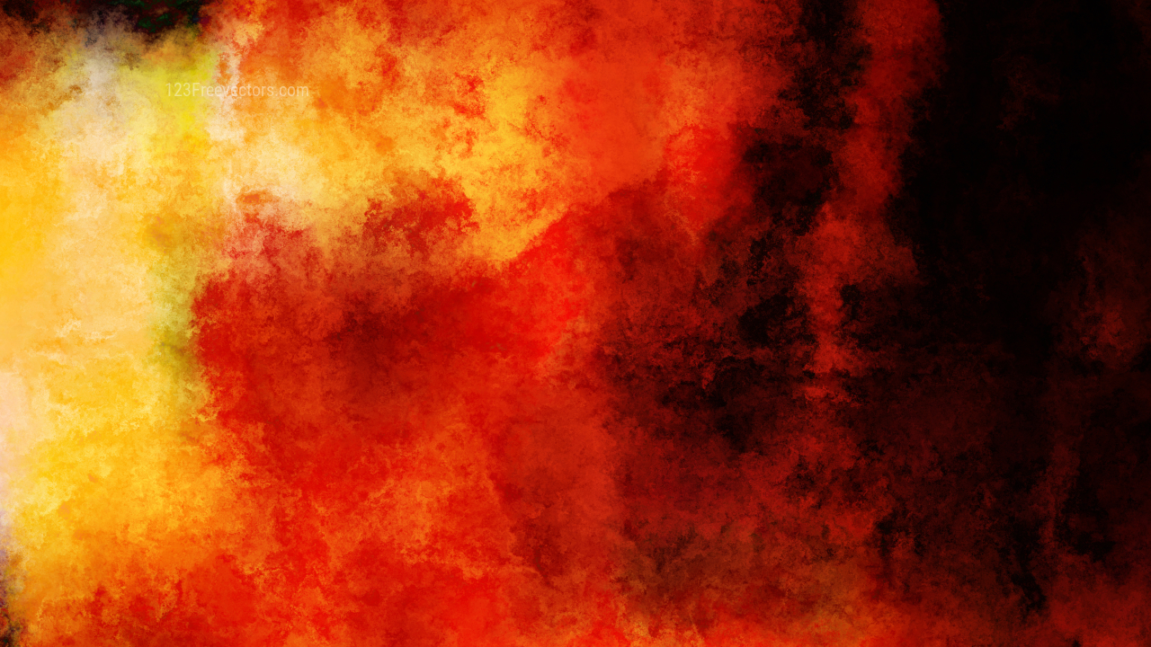 Black Red and Yellow Grunge Watercolor Texture Background Image
