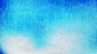 Blue Watercolour Grunge Texture Background