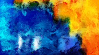 Blue and Orange Grunge Watercolour Background Image