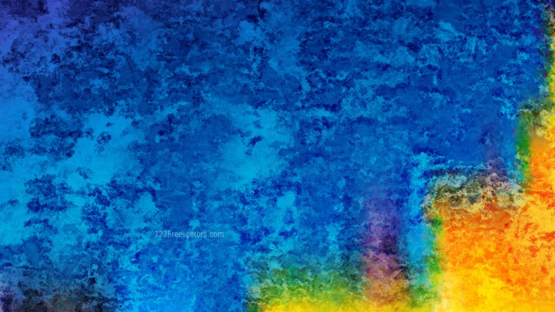 Blue and Orange Grunge Watercolor Texture Image