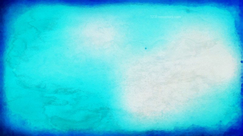 Blue and White Watercolor Texture Background