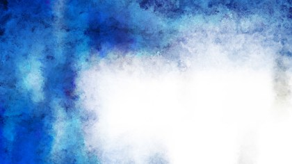 Blue and White Watercolour Background Texture Image