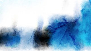 Blue and White Watercolour Grunge Texture Background Image