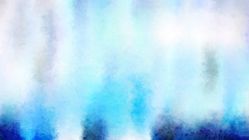 Blue and White Grunge Watercolor Texture Background