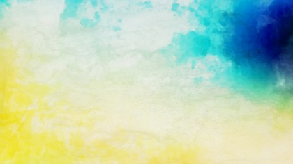 Blue and Yellow Watercolor Texture Background Image