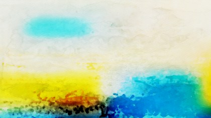 Blue and Yellow Watercolor Texture Background