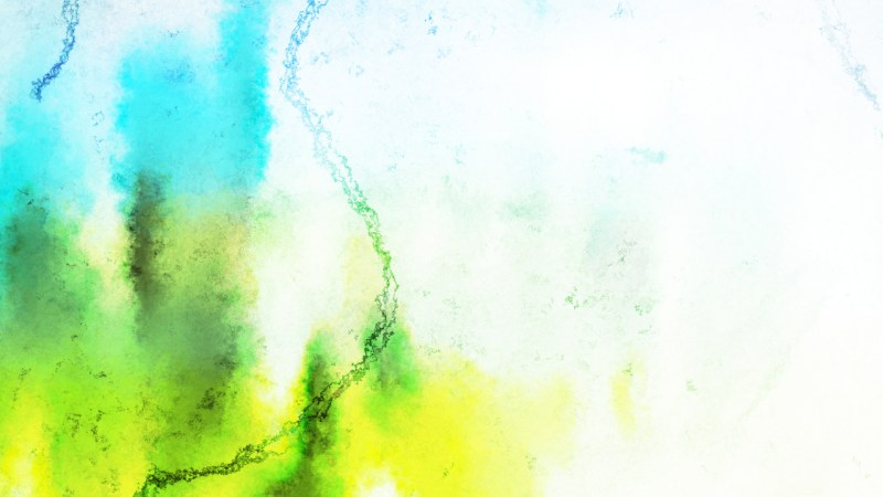 Blue Green and White Watercolor Background