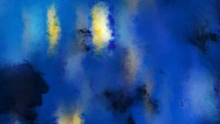 Blue Yellow and Black Distressed Watercolour Background Image
