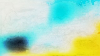 Blue Yellow and White Watercolour Background