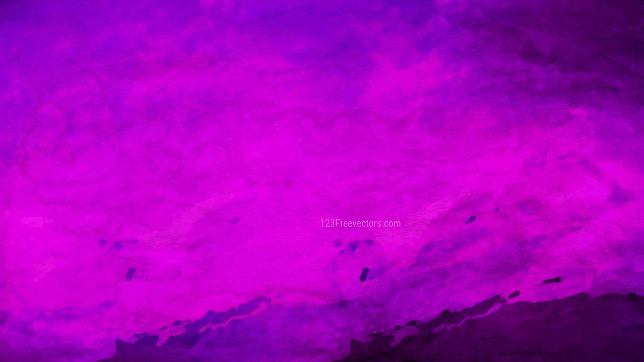 Bright Purple Watercolour Background