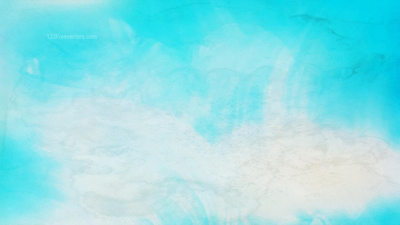 Cyan Watercolour Background Image
