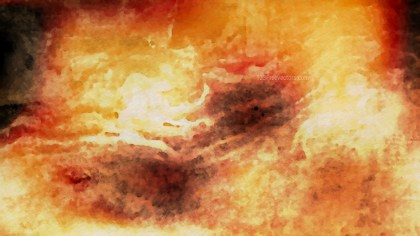 Dark Orange Watercolor Background Texture Image