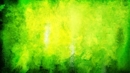 Green and Yellow Watercolor Background Texture Image