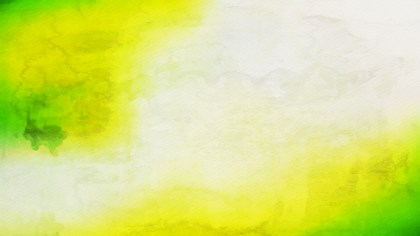 Green Yellow and White Distressed Watercolor Background
