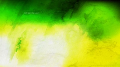 Green Yellow and White Grunge Watercolour Background Image