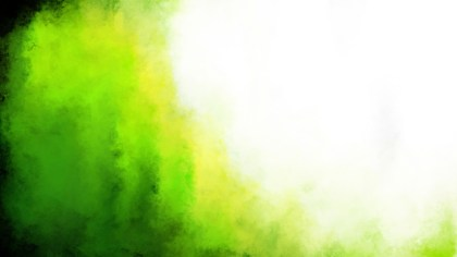 Green Yellow and White Grunge Watercolor Background