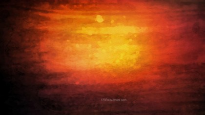 Orange and Black Watercolor Grunge Texture Background Image