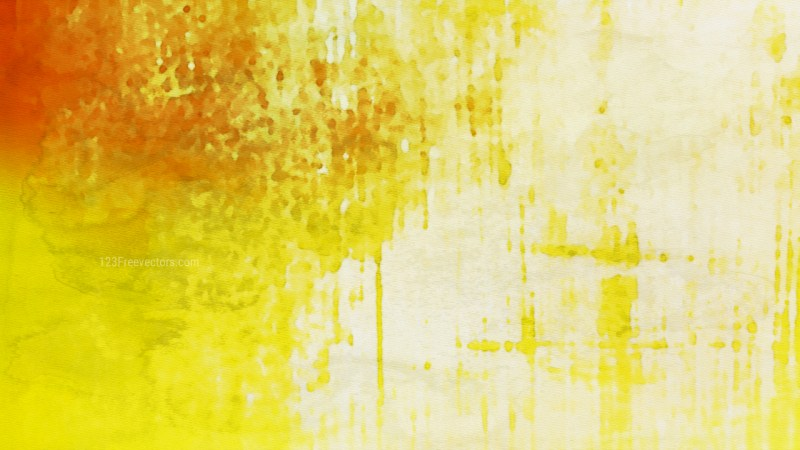 Orange and Yellow Watercolour Grunge Texture Background