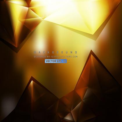 Black Orange Triangle Polygonal Background Template