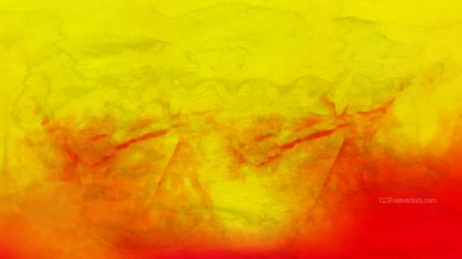 Red and Yellow Watercolor Background Texture