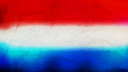 Red White and Blue Watercolor Background