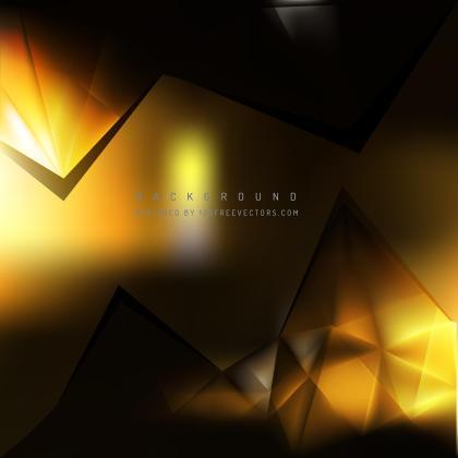 Abstract Black Orange Polygonal Triangular Background