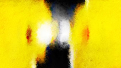 Yellow Black and White Watercolour Grunge Texture Background