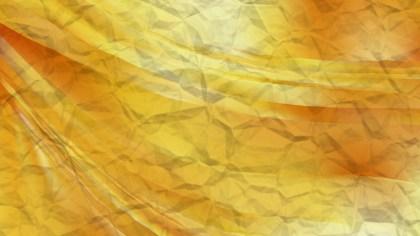 Orange Crumpled Paper Background Image