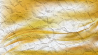 White and Gold Crumpled Paper Texture Background Image