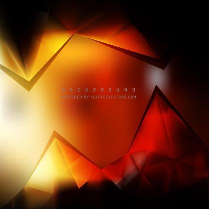 Black Orange Fire Geometric Triangle Background Design