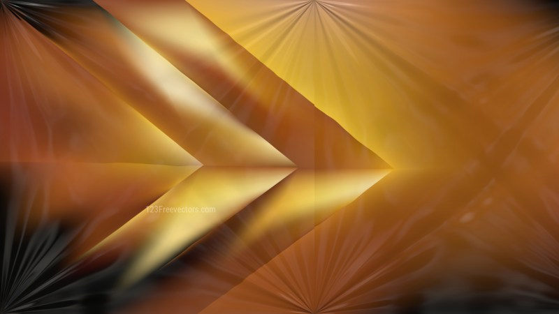 Shiny Black and Gold Abstract Background Design