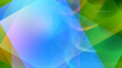 Abstract Blue and Green Graphic Background Image