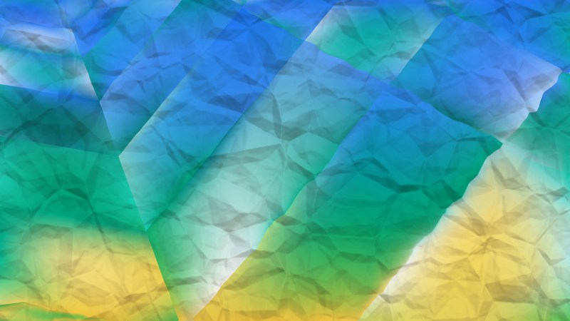 Abstract Blue Green and Yellow Background Design