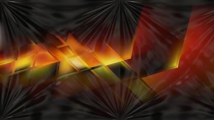 Orange and Black Abstract Shiny Background Design