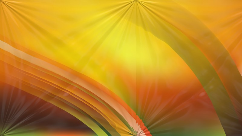 Orange and Green Abstract Shiny Background