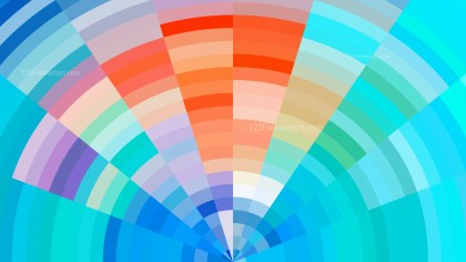Abstract Blue and Orange Background Illustration