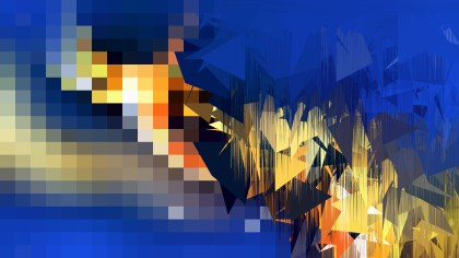 Blue Orange and Black Abstract Texture Background