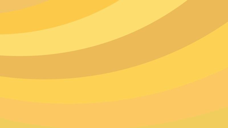 Amber Color Curved Stripes Background