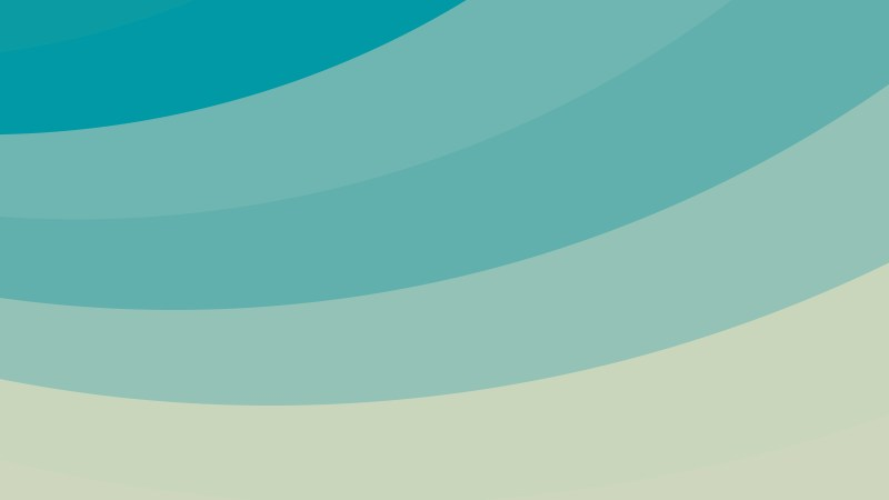 Beige and Turquoise Curved Stripes Background Vector Illustration