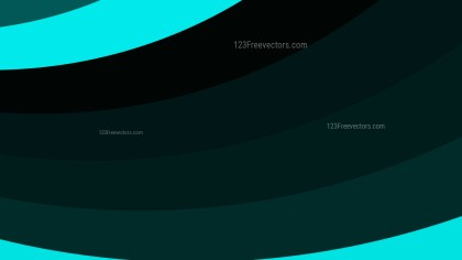 Black and Turquoise Curved Stripes Background