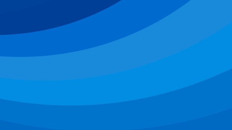 Blue Curved Stripes Background Vector Illustration