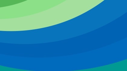 Blue and Green Curved Stripes Background